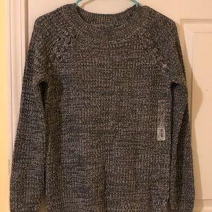 Gray/White Sweater